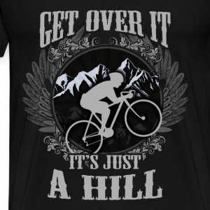 Mountain biking T-shirt - Get over the hill - Men's Premium T-Shirt