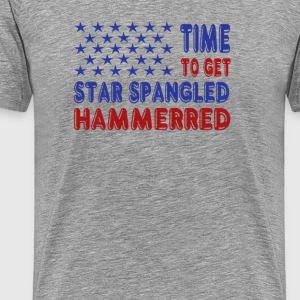 Time to Get Star Spangled Hammerred - Men's Premium T-Shirt