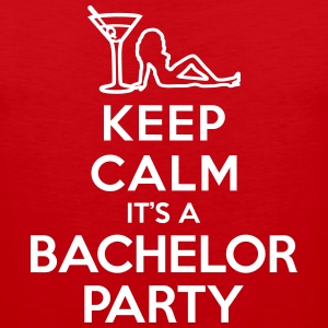 Keep calm It's a bachelor party Tank Tops - Men's Premium Tank