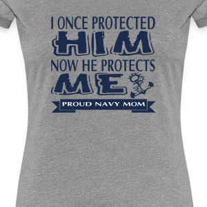 Proud Military Parent Navy Mom - Women's Premium T-Shirt