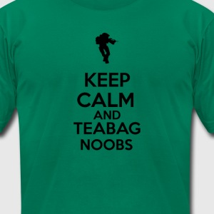 Keep Calm & Teabag Noobs T-Shirts - Men's T-Shirt by American Apparel