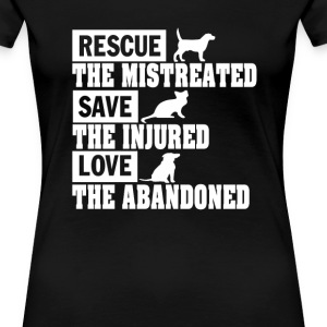 Rescue, Save, Love! - Women's Premium T-Shirt