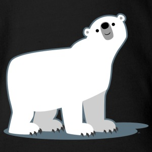 Cute Curious Polar Bear by Cheerful Madness!! Baby & Toddler Shirts - Short Sleeve Baby Bodysuit