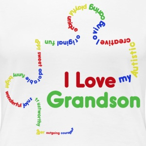 I love my autistic grandson  - Women's Premium T-Shirt