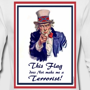 This FLAG...does NOT make me a Terrorist! Long Sleeve Shirts - Men's Long Sleeve T-Shirt by Next Level