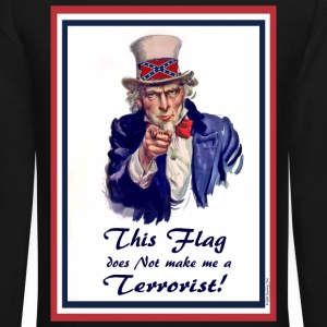 This FLAG...does NOT make me a Terrorist! Long Sleeve Shirts - Crewneck Sweatshirt