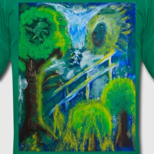 Friends in the Forest Painting by Jason Gallant T-Shirts - Men's T-Shirt by American Apparel