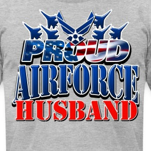 Proud Airforce Husband T-Shirts - Men's T-Shirt by American Apparel