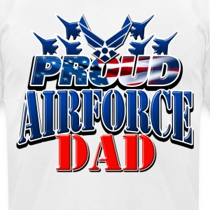 Proud Airforce Dad T-Shirts - Men's T-Shirt by American Apparel