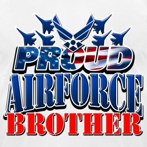 Proud Airforce Brother T-Shirts - Men's T-Shirt by American Apparel