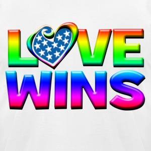 Love Wins Gay Marriage Equality T-Shirts - Men's T-Shirt by American Apparel