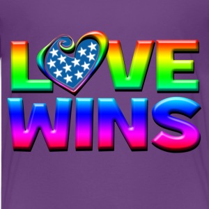 Love Wins Gay Marriage Equality Kids' Shirts - Kids' Premium T-Shirt