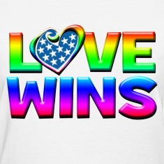 Love Wins Gay Marriage Equality Women's T-Shirts
