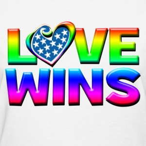 Love Wins Gay Marriage Equality Women's T-Shirts - Women's T-Shirt