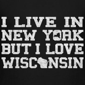 Live New York Love Wisconsin Kids' Shirts - Kids' Premium T-Shirt