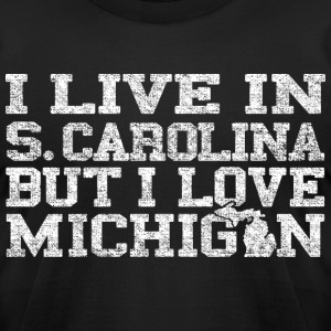 Live South Carolina Love Michigan T-Shirts - Men's T-Shirt by American Apparel