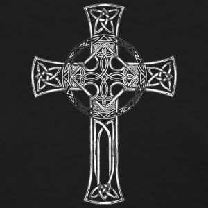 Classic Distressed Irish Gaelic Celtic Cross Women's T-Shirts - Women's T-Shirt