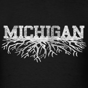 Michigan Rooted Roots Raised T-Shirts - Men's T-Shirt