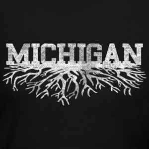 Michigan Rooted Roots Raised Long Sleeve Shirts - Women's Long Sleeve Jersey T-Shirt