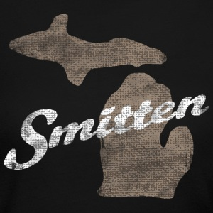 Smitten Michigan MItten Distressed Vintage Long Sleeve Shirts - Women's Long Sleeve Jersey T-Shirt