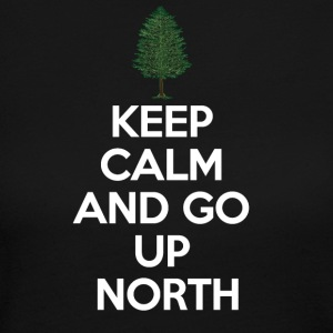 Keep Calm and Go Up North  Long Sleeve Shirts - Women's Long Sleeve Jersey T-Shirt