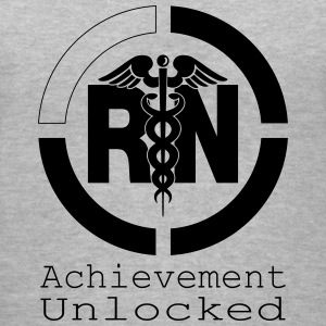 RN Achievement Unlocked Women's T-Shirts - Women's V-Neck T-Shirt