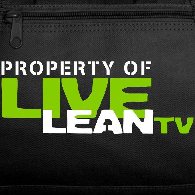 Property of Live Lean TV Gym Bag
