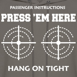 Passenger Instructions Press Here Hang On Tight - Men's Hoodie