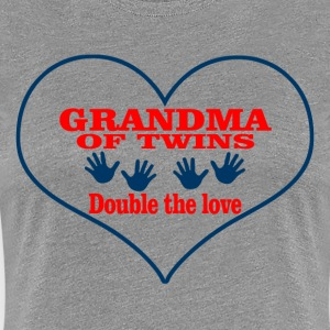 GrandMa Of Twins Double The Love - Women's Premium T-Shirt