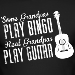 Some Grandpas Play Bingo Real Grandpas Play Guitar - Men's Long Sleeve T-Shirt by Next Level