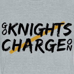 Go Knights Brushed T-Shirts - Unisex Tri-Blend T-Shirt by American Apparel