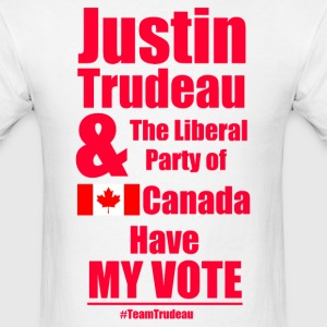 Justin Trudeau has my vote - Men's T-Shirt