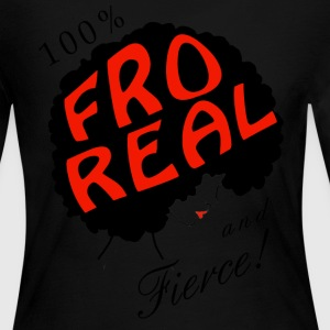I am Fro Real Long Sleeve Top - Women's Long Sleeve Jersey T-Shirt