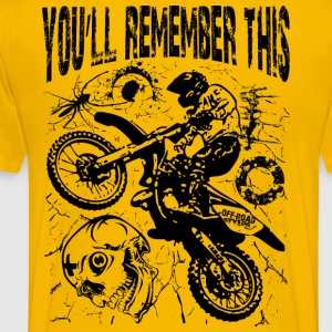 Remember Motocross T-Shirts - Men's Premium T-Shirt
