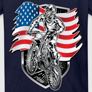 Motocross USA Flag Kids' Shirts - Kids' T-Shirt