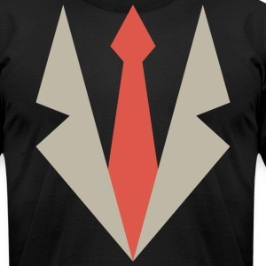 Ganster Coat & Tie T-Shirts - Men's T-Shirt by American Apparel