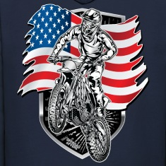 Motocross USA Flag Hoodies