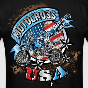 Freestyle Dirtbiker USA T-Shirts - Men's T-Shirt