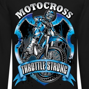 Motocross Throttle Strong Long Sleeve Shirts - Crewneck Sweatshirt