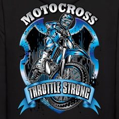 Motocross Throttle Strong Hoodies