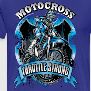 Motocross Throttle Strong T-Shirts - Men's Premium T-Shirt
