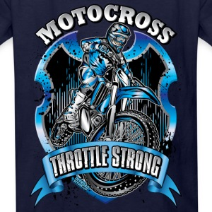 Motocross Throttle Strong Kids' Shirts - Kids' T-Shirt