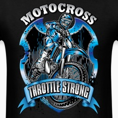 Motocross Throttle Strong T-Shirts