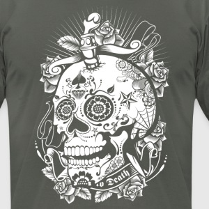 Sugar Skull of Death T-Shirts - Men's T-Shirt by American Apparel