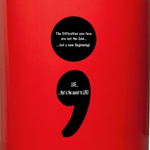 Semicolon:  LIVE...that is the Secret to LIFE! Mugs & Drinkware - Full Color Mug