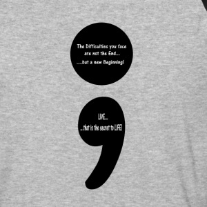 Semicolon:  LIVE...that is the Secret to LIFE! T-Shirts - Baseball T-Shirt
