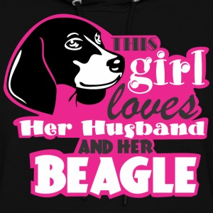 This Girl Loves Her Husband And Her Beagle - Women's Hoodie