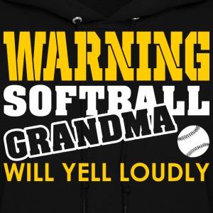 Warning Softball Mom Will Yell Loudly - Women's Hoodie