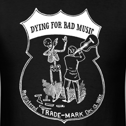 Dying For Bad Music Logo (inverted)