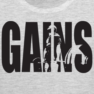 GAINS - Deadlift Tank Tops - Men's Premium Tank